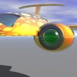 A futuristic plane.