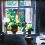 """Acrylic on Canvas paper 12""""x16"""" A bread and breakfast in Cambridge England."""